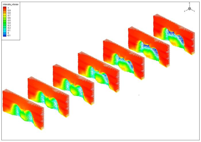Post-traitement spécifique : Vecteurs vitesse