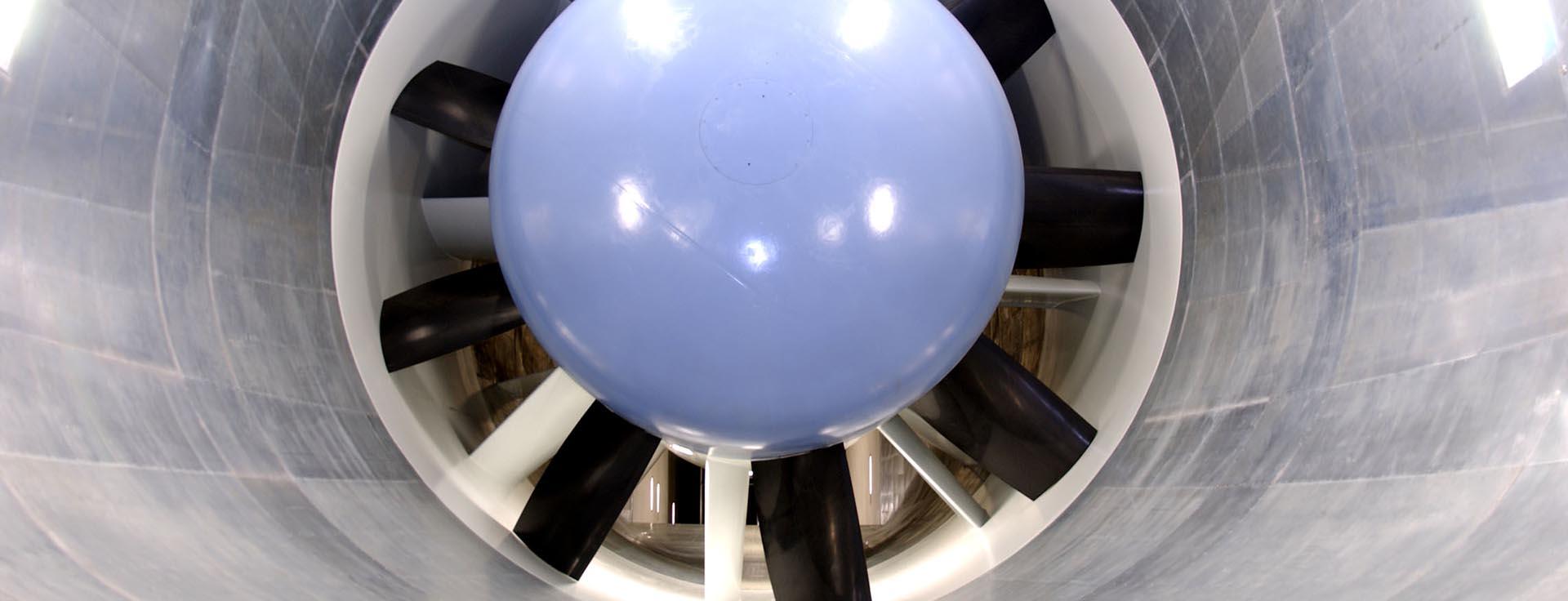 Soufflerie aérodynamique aéroacoustique
