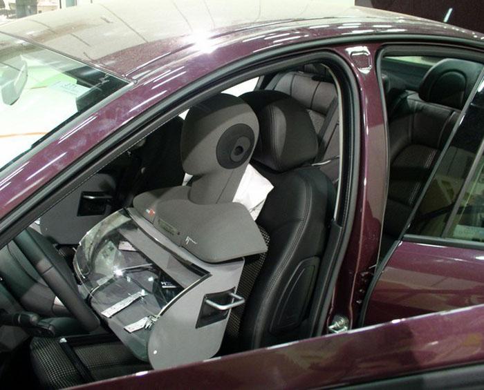 Tête acoustique placées dans le véhicule